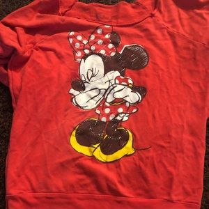 Off shoulder Disney sweater good condition